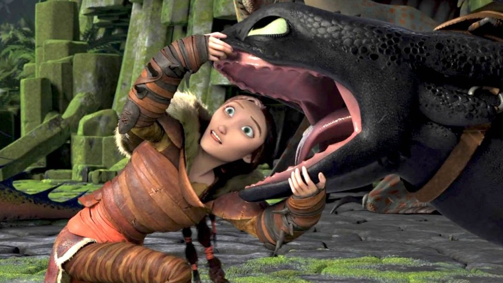 Hiccup's Mom and Toothless