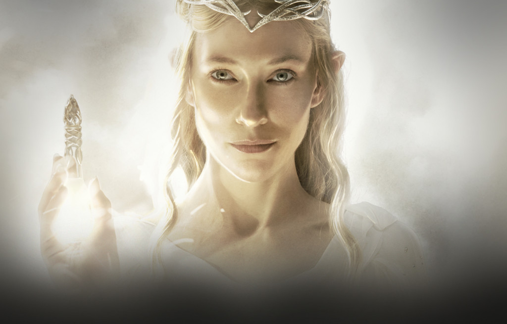 The elf queen Galadriel from The Lord of the Rings