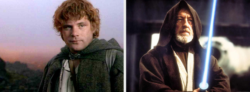 Supporting characters: Samwise and Obi-Wan Kenobi
