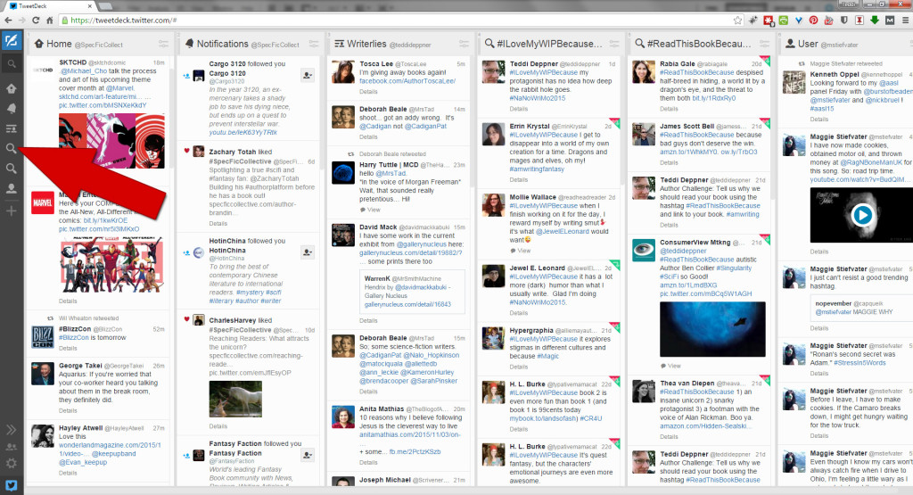 Tweetdeck Column Navigation