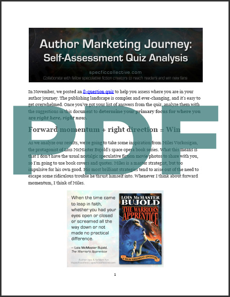 Winter Hiatus and PDF of Author Marketing Self-Assessment Analysis